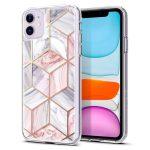 Spigen Ciel Etoile Marble iPhone 11 hátlap, tok, rózsaszín