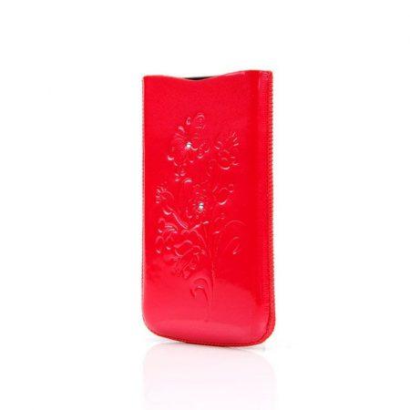 DC iPhone 4/4S kihúzható bőr tok, piros