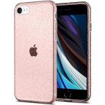 Spigen Liquid Crystal Glitter iPhone 7/8/SE (2020) hátlap, tok, rózsaszín