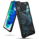 Ringke Fusion X Xiaomi Redmi K30 Pro/Poco F2 Pro oldalra nyíló tok, mintás,fekete