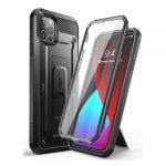 Supcase Unicorn Beetle iPhone 12 Pro Max vízálló, ütésálló tok és előlap , fekete