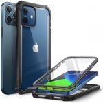 Supcase Iblsn Ares iPhone 12/12 Pro hátlap, tok, fekete