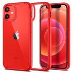 Spigen Ultra Hybrid iPhone 12 Mini hátlap, tok, piros