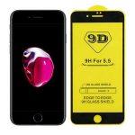 iPhone 7/8/SE (2020) 5D Full Glue teljes kijelzős edzett üvegfólia, 9H keménységű, fekete