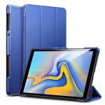 ESR Yippee Series Samsung Galaxy Tab A 10.5 (2018) oldalra nyíló okos tok, sötétkék