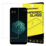 Wozinsky Xiaomi Mi A2 /Mi 6X kijelzővédő edzett üvegfólia (tempered glass) 9H keménységű (nem teljes kijelzős 2D sík üvegfólia), átlátszó