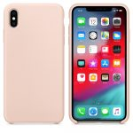iPhone XS Max Silicone Case Soft Flexible Rubber hátlap, tok, rózsaszín