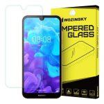 Wozinsky Huawei Y5 (2019) kijelzővédő edzett üvegfólia (tempered glass) 9H keménységű (nem teljes kijelzős 2D sík üvegfólia), átlátszó
