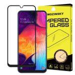 Wozinsky Glass Screen 5D Full Glue Samsung Galaxy A50/A30/A20 teljes kijelzős edzett üvegfólia, 9H keménységű, tokbarát, fekete