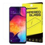 Wozinsky Samsung Galaxy A50/A30/A20 kijelzővédő edzett üvegfólia (tempered glass) 9H keménységű (nem teljes kijelzős 2D sík üvegfólia), átlátszó