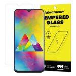 Wozinsky Samsung Galaxy M20 kijelzővédő edzett üvegfólia (tempered glass) 9H keménységű (nem teljes kijelzős 2D sík üvegfólia), átlátszó