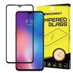 Wozinsky Xiaomi Mi 9 Glass Screen 5D Full Glue teljes kijelzős edzett üvegfólia (tempered glass), 9H keménységű, tokbarát, fekete