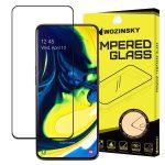 Wozinsky Glass Screen 5D Full Glue Samsung Galaxy A80 teljes kijelzős edzett üvegfólia, 9H keménységű, tokbarát, fekete