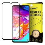 Wozinsky Glass Screen 5D Full Glue Samsung Galaxy A70 teljes kijelzős edzett üvegfólia, 9H keménységű, tokbarát, fekete