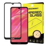 Wozinsky Huawei Y5 (2019) 5D Full Glue teljes kijelzős edzett üvegfólia (tempered glass) 9H keménységű, tokbarát, fekete