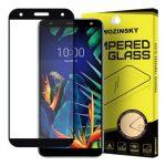 Wozinsky LG K40 5D Full Glue teljes kijelzős edzett üvegfólia (tempered glass) 9H keménységű, tokbarát, fekete