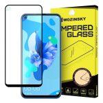 Wozinsky Huawei P20 Lite (2019) / Huawei Nova 5i 5D Full Glue teljes kijelzős edzett üvegfólia (tempered glass) 9H keménységű, tokbarát, fekete