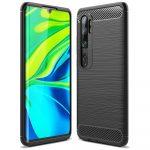 Carbon Case Flexible Xiaomi Mi Note 10/Mi Note 10 Pro/Mi CC9 Pro hátlap, tok, fekete