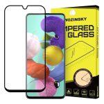 Wozinsky Glass Screen 5D Full Glue Samsung Samsung Galaxy A71/Galaxy Note 10 Lite teljes kijelzős edzett üvegfólia, 9H keménységű, tokbarát, fekete