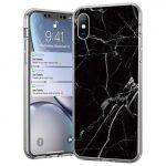 Wozinsky Marble cover Samsung Galaxy A71 márvány mintás hátlap, tok, fekete