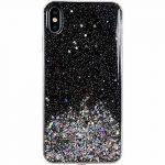 Wozinsky Star Glitter Shining Samsung Galaxy A51hátlap, tok, fekete