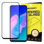 Wozinsky Huawei P40 Lite E 5D Full Glue teljes kijelzős edzett üvegfólia (tempered glass) 9H keménységű, fekete