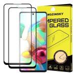 Wozinsky 2 db Glass Screen 5D Full Glue Samsung Galaxy A71 teljes kijelzős edzett üvegfólia, 9H keménységű, tokbarát, fekete