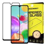 Wozinsky Samsung Galaxy A41 5D Full Glue teljes kijelzős edzett üvegfólia (tempered glass) 9H keménységű, tokbarát, fekete