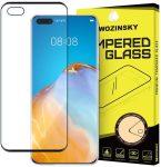 Wozinsky Huawei P40 5D Full Glue teljes kijelzős edzett üvegfólia (tempered glass) 9H keménységű, tokbarát, fekete