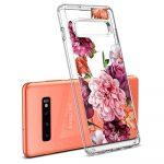 Spigen Ciel Samsung Galaxy S10 hátlap, tok, rózsa mintás, átlátszó