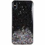 Wozinsky Star Glitter Shining Xiaomi Redmi 9A hátlap, tok, fekete