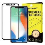 Wozinsky iPhone 12 Mini 5D Full Glue teljes kijelzős edzett üvegfólia (tempered glass), 9H keménységű, tokbarát, fekete