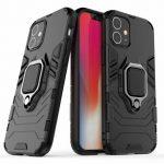 Armor Ring iPhone 12 Mini ütésálló hátlap, tok, fekete