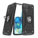 Wozinsky Armor Ring Samsung Galaxy S20 Plus ütésálló hátlap, tok, fekete