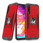 Wozinsky Armor Ring Samsung Galaxy A70 ütésálló hátlap, tok, piros