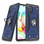 Wozinsky Armor Ring Samsung Galaxy A71 ütésálló hátlap, tok, sötétkék
