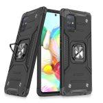 Wozinsky Armor Ring Samsung Galaxy A71 5G ütésálló hátlap, tok, fekete