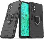Armor Ring Samsung Galaxy  A72 5G/A72 4G ütésálló hátlap, tok, fekete