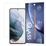 Samsung Galaxy S21 kijelzővédő edzett üvegfólia (tempered glass) 9H keménységű (nem teljes kijelzős 2D sík üvegfólia), átlátszó