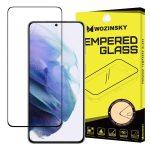 Wozinsky Samsung Galaxy S21 Plus 5D Full Glue teljes kijelzős edzett üvegfólia (tempered glass) 9H keménységű, tokbarát, fekete