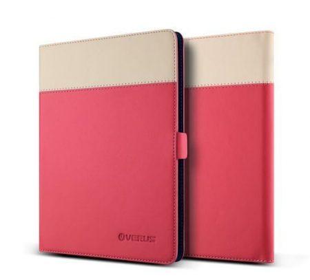VRS Design (VERUS) Galaxy TabS 10.5 Crayon Two-Tone Diary Case oldalra nyíló bőr tok, rózsaszín-bézs
