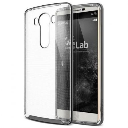 VRS Design (VERUS) LG V10 Crystal Bumper hátlap, tok, grafitszürke