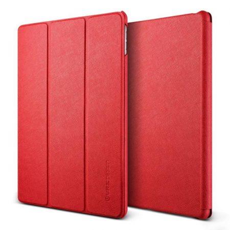 VRS Design (VERUS) iPad Pro 9,7 Saffiano K1 mágneses oldalra nyíló tok, piros
