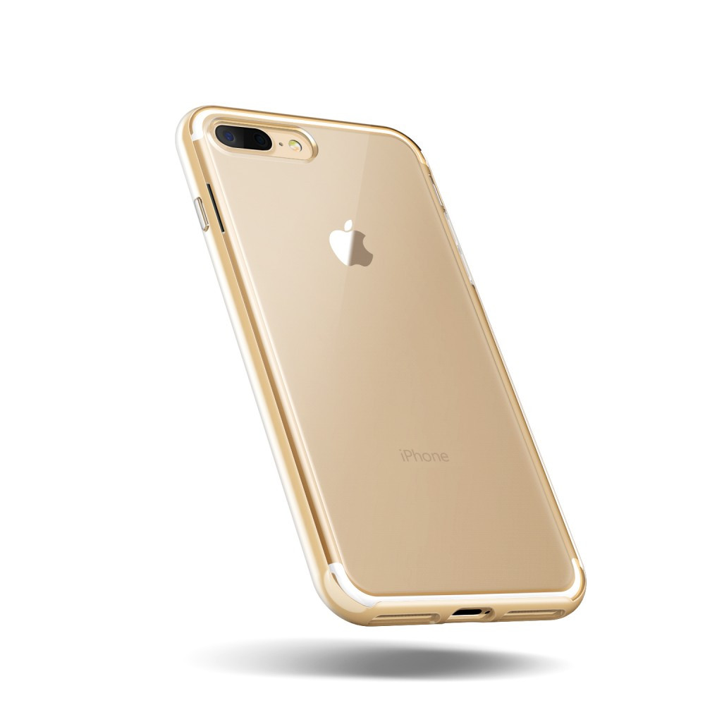 size 40 ecb06 8311c VRS Design (VERUS) iPhone 7 Plus New Crystal Bumper hátlap, tok, arany
