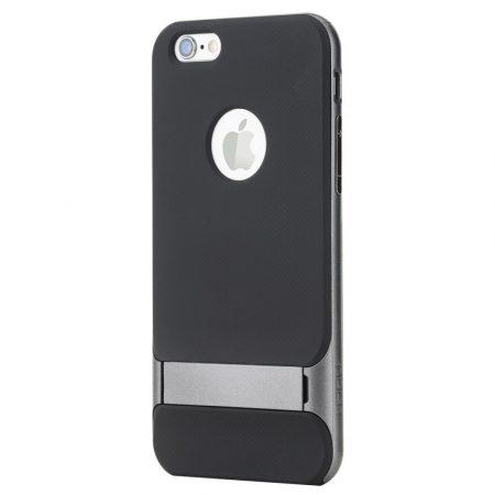 Rock iPhone 6 Plus/6S Plus Royce with stand series hátlap, tok, acélezüst