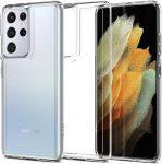 Spigen Ultra Hybrid Samsung Galaxy S21 Ultra hátlap, tok, átlátszó