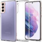 Spigen Ultra Hybrid Crystal Samsung Galaxy S21 hátlap, tok, átlátszó