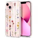 Spigen Cyrill Cecile iPhone 13 virágmintás hátlap, tok, színes átlátszó