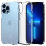 Spigen Liquid Crystal Glitter iPhone 13 Pro Max hátlap, tok, átlátszó