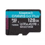 Kingston Canvas Go! Plus micro SDXC, 128GB, class 10, UHS-I, 170 MB/s, memóriakártya adapterrel